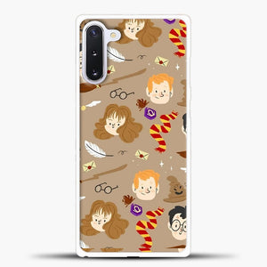 Harry Potter Pattern And Friend Samsung Galaxy Note 10 Case, White Plastic Case | casedilegna.com