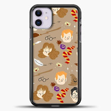Load image into Gallery viewer, Harry Potter Pattern And Friend iPhone 11 Case, Black Plastic Case | casedilegna.com