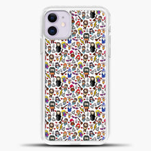 Load image into Gallery viewer, Harry Potter Pattern Drawing iPhone 11 Case, White Plastic Case | casedilegna.com