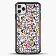 Load image into Gallery viewer, Harry Potter Pattern Drawing iPhone 11 Pro Case, Black Plastic Case | casedilegna.com