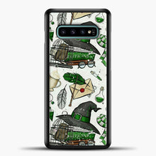 Load image into Gallery viewer, Harry Potter Pattern Green Image Samsung Galaxy S10e Case, Black Plastic Case | casedilegna.com