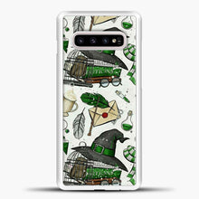 Load image into Gallery viewer, Harry Potter Pattern Green Image Samsung Galaxy S10e Case, White Plastic Case | casedilegna.com