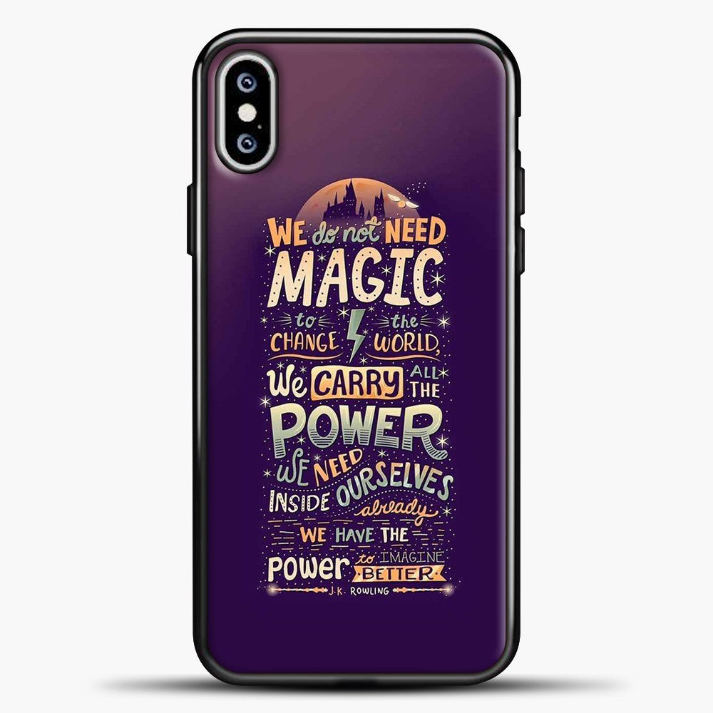 Harry Potter Purple Background iPhone XS Max Case, Black Plastic Case | casedilegna.com