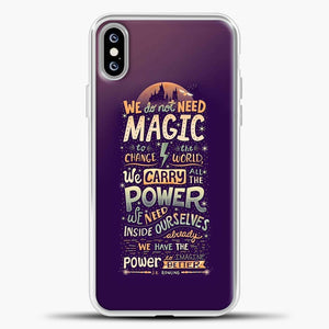 Harry Potter Purple Background iPhone XS Max Case, White Plastic Case | casedilegna.com
