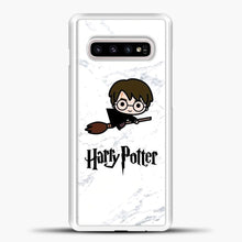 Load image into Gallery viewer, Harry Potter Spider Background Samsung Galaxy S10e Case, White Plastic Case | casedilegna.com