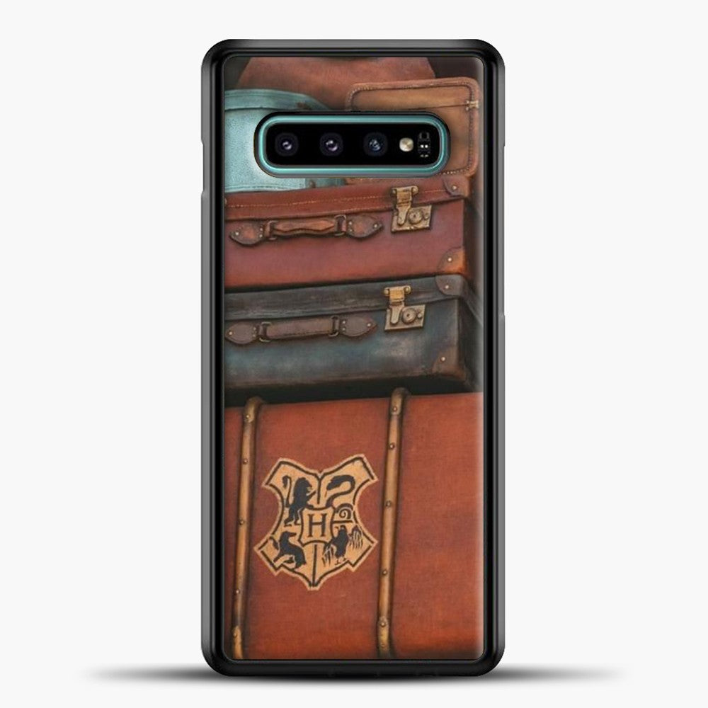 Harry Potter Suitcase Samsung Galaxy S10e Case, Black Plastic Case | casedilegna.com