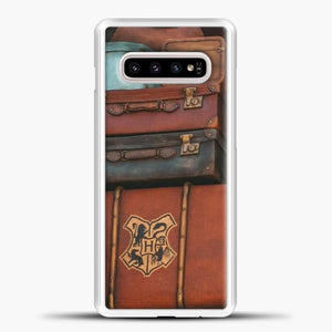 Harry Potter Suitcase Samsung Galaxy S10e Case, White Plastic Case | casedilegna.com