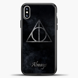 Harry Potter White Smoke iPhone XS Max Case, Black Plastic Case | casedilegna.com