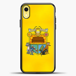 Homer Badge iPhone XR Case, Black Plastic Case | casedilegna.com