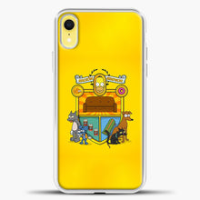 Load image into Gallery viewer, Homer Badge iPhone XR Case, White Plastic Case | casedilegna.com