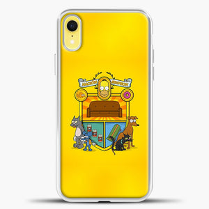 Homer Badge iPhone XR Case, White Plastic Case | casedilegna.com