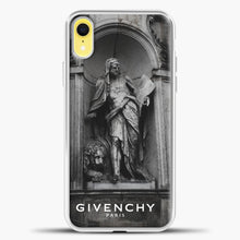 Load image into Gallery viewer, Hypebeast THE MONUMENT STATUE iPhone XR Case, White Plastic Case | casedilegna.com
