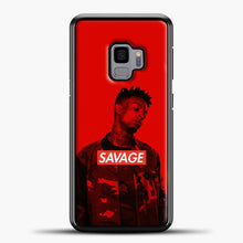 Load image into Gallery viewer, Im A Savage Red Background Samsung Galaxy S9 Case