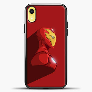 Iron Man Abstract iPhone XR Case, Black Plastic Case | casedilegna.com