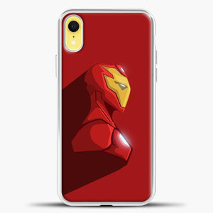 Iron Man Abstract iPhone XR Case, White Plastic Case | casedilegna.com