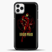 Load image into Gallery viewer, Iron Man Clipart iPhone 11 Pro Case, Black Plastic Case | casedilegna.com