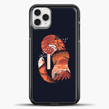 Load image into Gallery viewer, Japanese Fox iPhone 11 Pro Case, Black Plastic Case | casedilegna.com