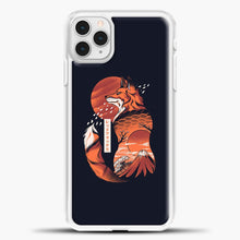 Load image into Gallery viewer, Japanese Fox iPhone 11 Pro Case, White Plastic Case | casedilegna.com