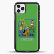 Load image into Gallery viewer, Lets Play Catch iPhone 11 Pro Case, Black Plastic Case | casedilegna.com