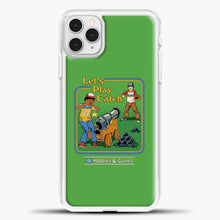 Load image into Gallery viewer, Lets Play Catch iPhone 11 Pro Case, White Plastic Case | casedilegna.com