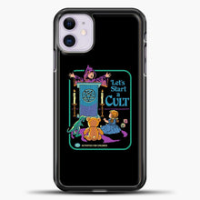 Load image into Gallery viewer, Lets Star A Cult iPhone 11 Case, Black Plastic Case | casedilegna.com