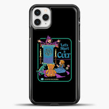 Load image into Gallery viewer, Lets Star A Cult iPhone 11 Pro Case, Black Plastic Case | casedilegna.com