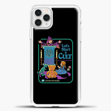 Load image into Gallery viewer, Lets Star A Cult iPhone 11 Pro Case, White Plastic Case | casedilegna.com