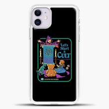 Load image into Gallery viewer, Lets Star A Cult iPhone 11 Case, White Plastic Case | casedilegna.com
