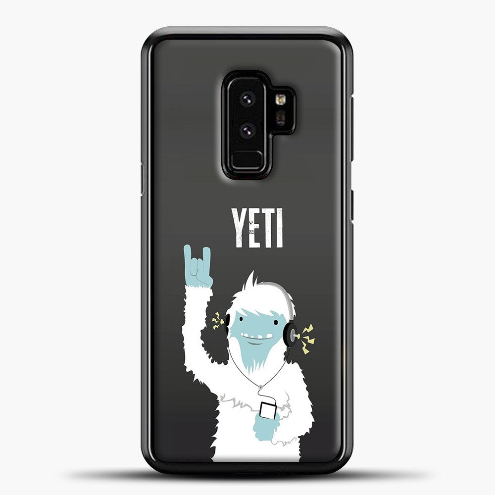 Lil Yeti And Bigfoot Samsung Galaxy S9 Plus Case, Black Plastic Case | casedilegna.com
