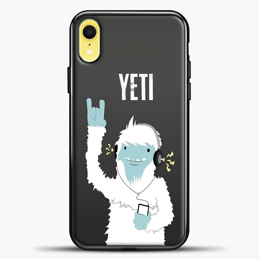 Lil Yeti And Bigfoot iPhone XR Case, Black Plastic Case | casedilegna.com