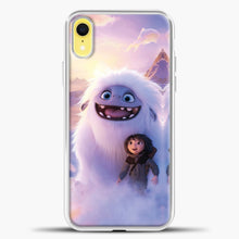 Load image into Gallery viewer, Lil Yeti And Boy Clouds iPhone XR Case, White Plastic Case | casedilegna.com