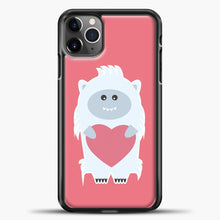 Load image into Gallery viewer, Lil Yeti Big Heart iPhone 11 Pro Max Case, Black Plastic Case | casedilegna.com