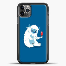 Load image into Gallery viewer, Lil Yeti Blue Background iPhone 11 Pro Max Case, Black Plastic Case | casedilegna.com