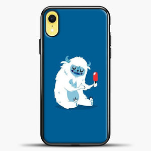 Lil Yeti Blue Background iPhone XR Case, Black Plastic Case | casedilegna.com