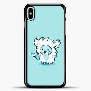 Lil Yeti Cute Bring Drink iPhone X Case, Black Plastic Case | casedilegna.com