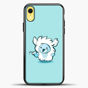 Lil Yeti Cute Bring Drink iPhone XR Case, Black Plastic Case | casedilegna.com