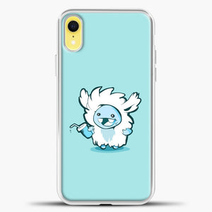 Lil Yeti Cute Bring Drink iPhone XR Case, White Plastic Case | casedilegna.com