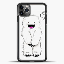 Load image into Gallery viewer, Lil Yeti Cute Monster iPhone 11 Pro Max Case, Black Plastic Case | casedilegna.com
