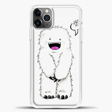 Load image into Gallery viewer, Lil Yeti Cute Monster iPhone 11 Pro Max Case, White Plastic Case | casedilegna.com