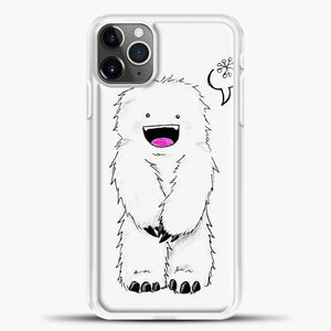 Lil Yeti Cute Monster iPhone 11 Pro Max Case, White Plastic Case | casedilegna.com