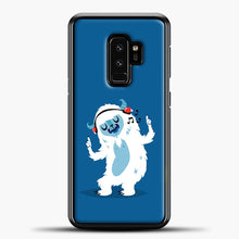 Load image into Gallery viewer, Lil Yeti Listening To Music Samsung Galaxy S9 Plus Case, Black Plastic Case | casedilegna.com