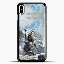 Load image into Gallery viewer, Lil Yeti On The Montain iPhone X Case, Black Plastic Case | casedilegna.com