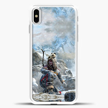 Load image into Gallery viewer, Lil Yeti On The Montain iPhone X Case, White Plastic Case | casedilegna.com