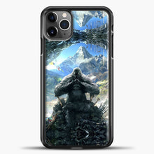Load image into Gallery viewer, Lil Yeti Sitting A Cafe iPhone 11 Pro Max Case, Black Plastic Case | casedilegna.com