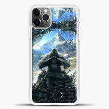 Load image into Gallery viewer, Lil Yeti Sitting A Cafe iPhone 11 Pro Max Case, White Plastic Case | casedilegna.com