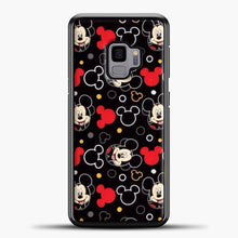 Load image into Gallery viewer, Mickey Mouse Black Background Samsung Galaxy S9 Case, Black Plastic Case | casedilegna.com