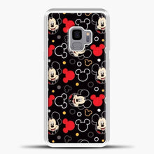 Load image into Gallery viewer, Mickey Mouse Black Background Samsung Galaxy S9 Case, White Plastic Case | casedilegna.com