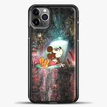 Load image into Gallery viewer, Mickey Mouse Blue Light iPhone 11 Pro Max Case, Black Plastic Case | casedilegna.com