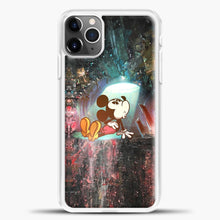 Load image into Gallery viewer, Mickey Mouse Blue Light iPhone 11 Pro Max Case, White Plastic Case | casedilegna.com