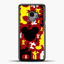 Load image into Gallery viewer, Mickey Mouse Cute Red Background Samsung Galaxy S9 Case, Black Plastic Case | casedilegna.com